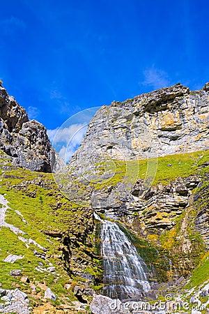 Free Cascada Cola De Caballo At Ordesa Valley Pyrenees Spain Royalty Free Stock Photography - 37613747