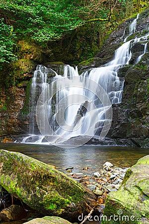 Cascada de Torc en el parque nacional de Killarney