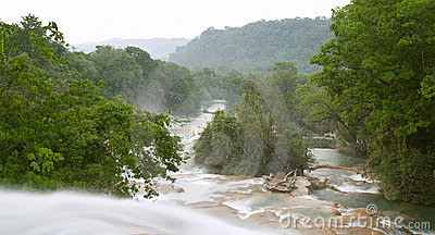 Cascadas de Agua Azul waterfall