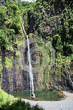 Free Cascade And Falls, Tahiti Island, Tahiti, French Polynesia, Close To Bora-Bora Stock Photography - 116769632