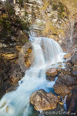Free Cascade Of Kuhfluchtwasserfall. Farchant, Garmisch-Partenkirchen Royalty Free Stock Photography - 40467987