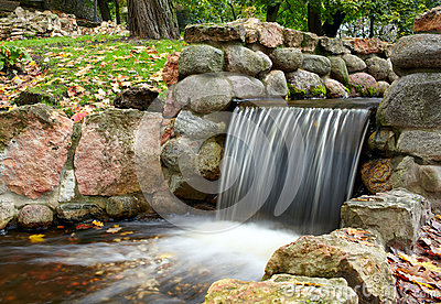 Cascade in the park.
