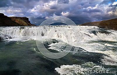 Cascade van Gullfoss