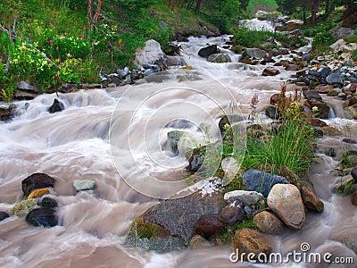 Cascades on river