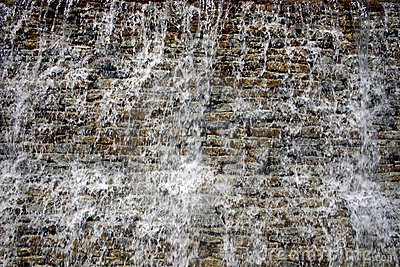 Cascading water