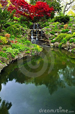 Free Cascading Waterfall And Pond Stock Images - 5461974