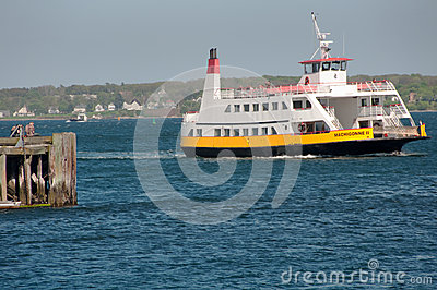 Casco Bay Lines Ferry in Portland, Maine Editorial Image