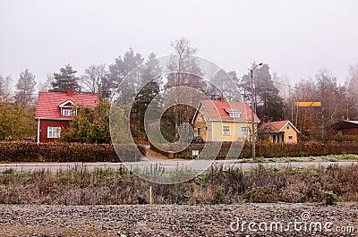 Case finlandesi tradizionali fotografia stock immagine for Case tradizionali