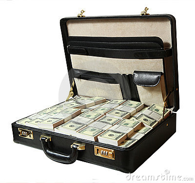 Free Case Full Of Dollar Stock Photos - 10068693