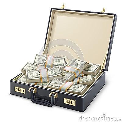 Free Case Full Of Money Royalty Free Stock Image - 45371616