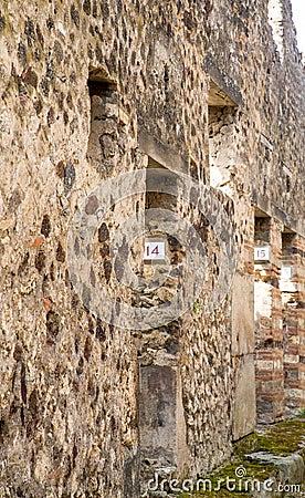 Case numerate a pompei antica fotografie stock immagine for Fotografie case