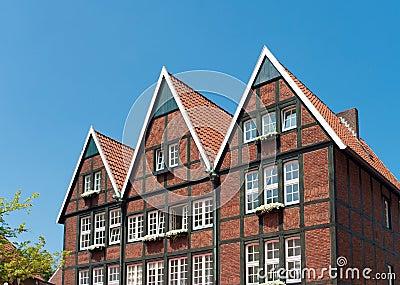 Case tedesche tipiche fotografie stock libere da diritti for Fotografie case