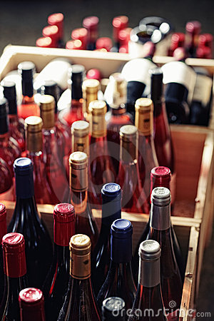 Free Cases Of Bottles Stock Photography - 21910772