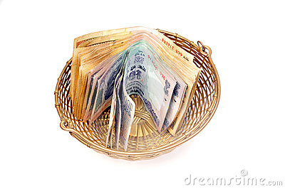 Cash in basket