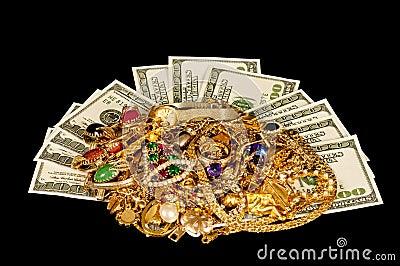Money and jewelry