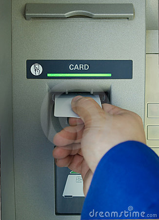 Free Cash Machine Hand And Blank Card Royalty Free Stock Photos - 4788198