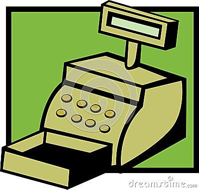 Cash register machine vector illustration