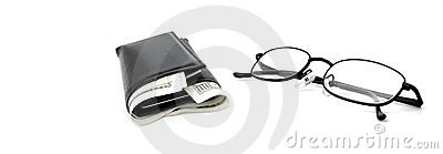 Cash Wallet and Glasses