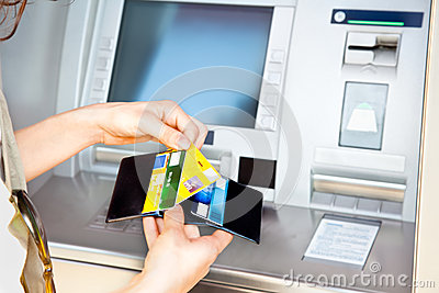Cash withdrawal with Visa card