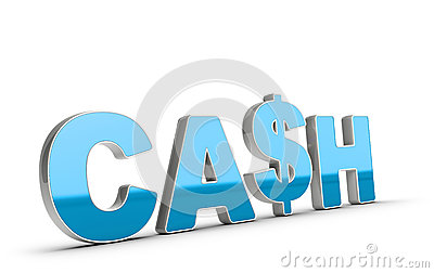 Cash Word and Dollar Symbol