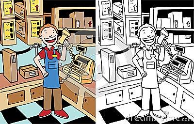 Cashier Man