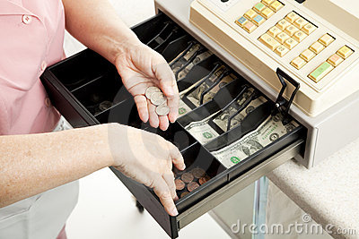 Cashiers Hands Make Change
