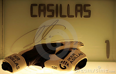 Casillas s gloves Editorial Image