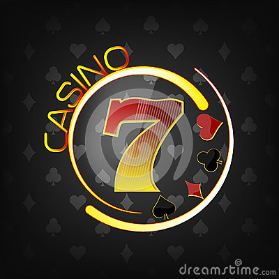 Free Casino Background With Lucky Seven Symbol And Gaming Elements Royalty Free Stock Images - 48069929