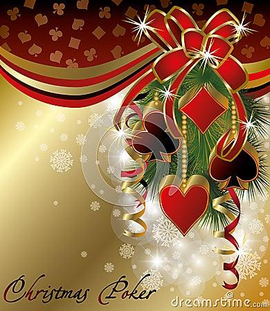 Free Casino Background With Poker Christmas Balls Stock Photos - 27689063