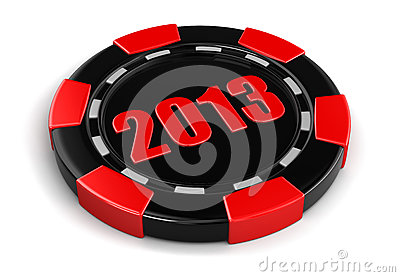 Casino chip 2013 (clipping path included)