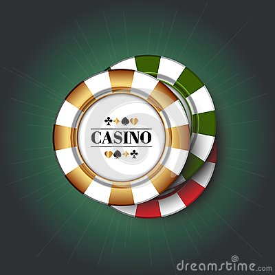 Free Casino Chips On The Green Background. Royalty Free Stock Image - 117312846