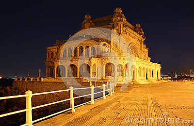 Casino in Constanta (Romania) by night