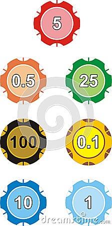 Casino counters complete set
