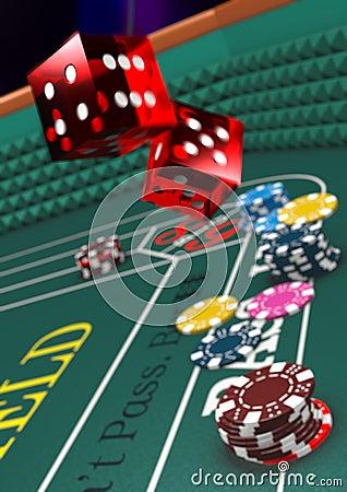 Free Casino Craps Royalty Free Stock Photo - 9528555