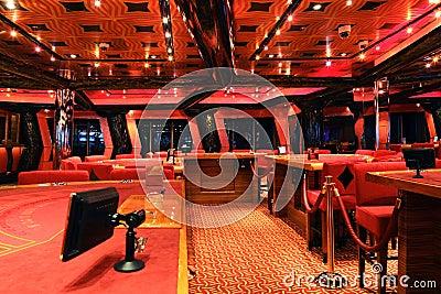 Casino on cruise ship Costa Deliziosa Editorial Photo
