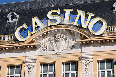 Casino de Mer de sur de Trouville en Normandie
