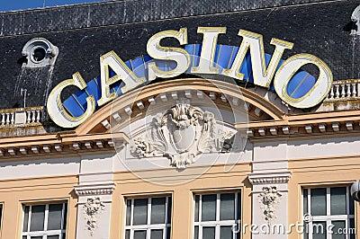 Casino de Mer do sur de Trouville em Normandy