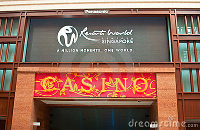 Casino Entrance and Slogan Editorial Image