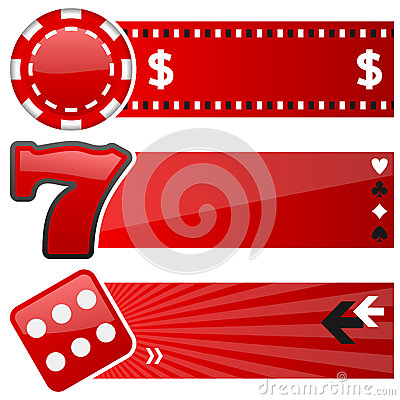 Casino & Gambling Horizontal Banners