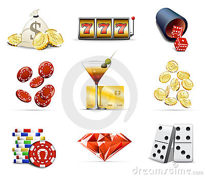 Casino and gambling icons
