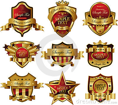 Casino Gold framed labels