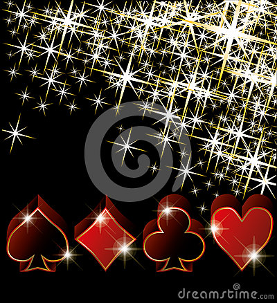Casino greeting card
