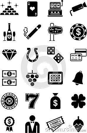 Free Casino Icons Stock Photos - 23933303