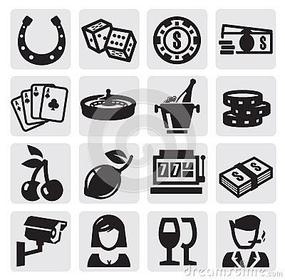 Free Casino Icons Stock Image - 26441511