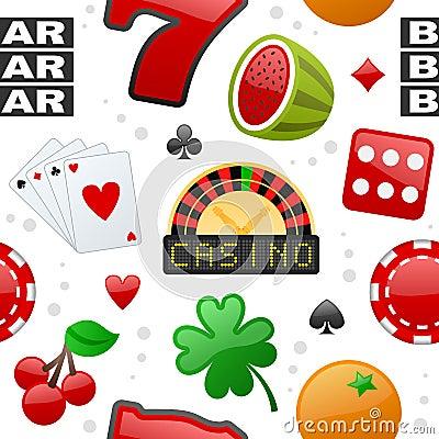 Casino Icons Seamless Pattern
