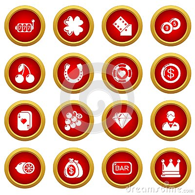 Free Casino Icons Set, Simple Style Stock Photos - 117150973