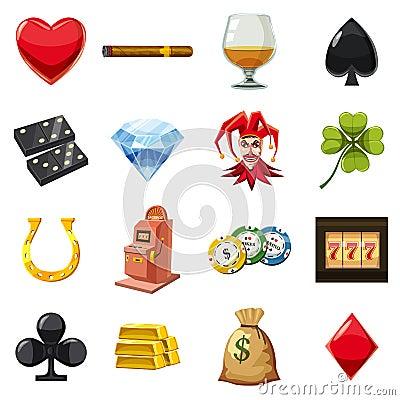 Free Casino Icons Set Symbols, Cartoon Style Stock Images - 89150934