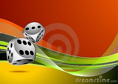 Casino illustration with two dice