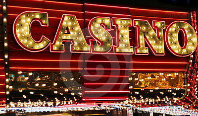 Casino neon lights Editorial Photography