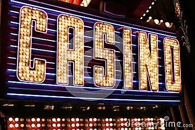 Casino neon lights Editorial Photo